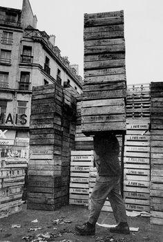 Harold Chapman - Fruit Boxes, Les Halles, Paris, 1960's.