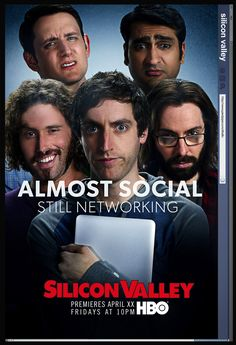 Silicon Valley HBO facebook theme poster