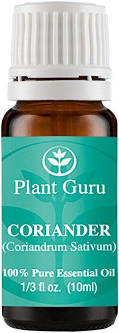 Coriander Essential Oil 10 ml. 100% Pure Undiluted Therapeutic Grade.