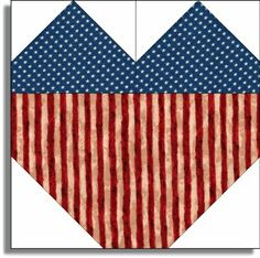 PATRIOTIC HEARTS STARS n STRIPS Pre Cut Quilt ... | New Quilt Kits Fo ...