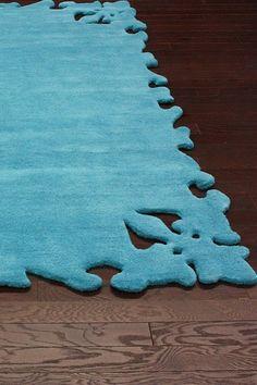 Serenity Turquoise Wool Rug