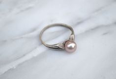 Ring features a reclaimed sterling silver, hand carved band that is carefully polished & then oxidized to bring out the subtle edge detail. Pearl Ring, Pearl Earrings, Casual Rings, Vintage Pearls, Bling Nails, Diamond Are A Girls Best Friend, Hand Carved, Jewelery, Jewelry Accessories