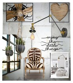 """""""Lighting - Industrial Designs"""" by arimagedesign ❤ liked on Polyvore featuring interior, interiors, interior design, home, home decor, interior decorating, Arteriors, J. Robert Scott and Pier 1 Imports"""
