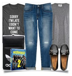 """""""School Wear"""" by madeinmalaysia ❤ liked on Polyvore featuring adidas, Rebecca Minkoff and FitFlop"""