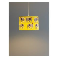 Moxley yellow lacquered spun bamboo ceiling light shade buy now topsy yellow and black printed lampshade d30 x h20cm mozeypictures Image collections