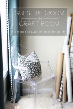 My Guest Bedroom / Craft Room Tour and some great tips and ideas on how to create a multipurpose room in your home!