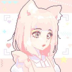 Kawaii Art, Anime Kawaii, Pretty Art, Cute Art, Aesthetic Art, Aesthetic Anime, Cute Anime Character, Character Art, Piskel Art