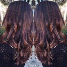 See this Instagram photo by @belladonnabymollyromano #brunettebalayage #balayage #warmbrownhair #chestnut #brunette #thepublicsalonandshoppe
