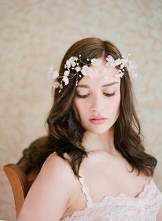 Blushing floral crown  | Twigs & Honey
