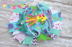 Squishy the Squid OOAK hairbow!