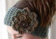 Free Crochet Headband Patterns - Bing Bilder. These colors and maybe another in black with a dark heather gray flower and buttons.