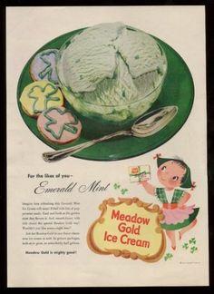 1953 Mary Blair Little Girl Irish Dancing Art Meadow Gold Ice Cream Print Ad | eBay