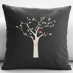 personalized tree initials throw pillow cover from RedEnvelope.com