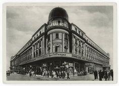 Berlin-Mitte, Central-Hotel, nachmals Café und Varieté-Theater Wintergarten, Friedrichstraße / Ecke Dorotheenstraße.  Außenansicht.  Fotopostkarte, um 1925.