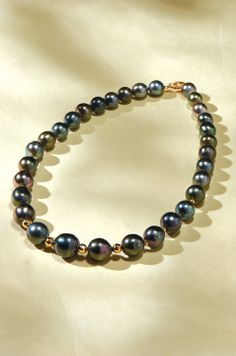 #pearl #strand #thick #black