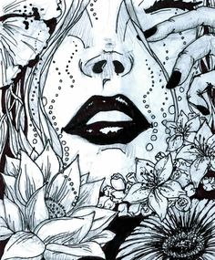 Pen and Ink Lips by jdstone on DeviantArt