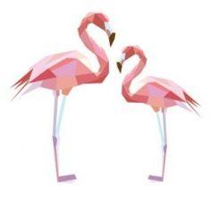 Muursticker diamond flamingo | Muurstickers