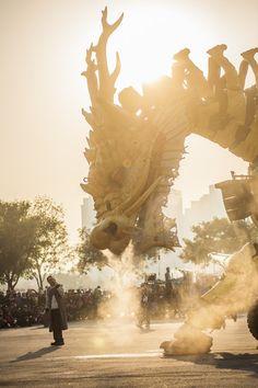 Longma Dragon Horse Wood & Steel Robot, China