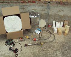 paul the potter: Making My Dustbin Raku Kiln.