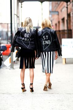 Black-and-white punk rock Street style