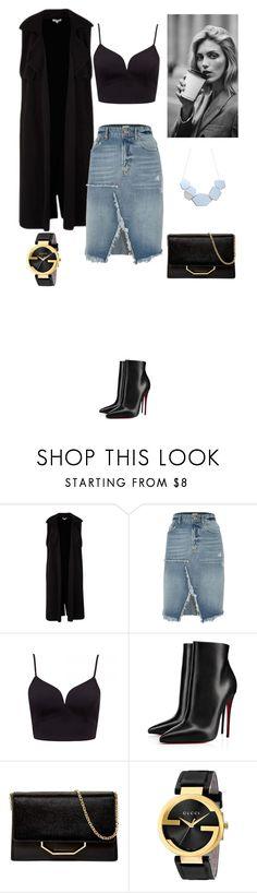 """Untitled #75"" by shinrashuya on Polyvore featuring River Island, Anja, Christian Louboutin, Louise et Cie and Gucci"