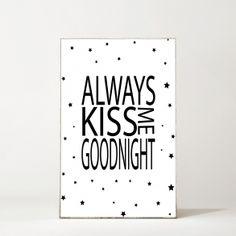 MitDejligeHjem <br> - Børne Billede Kiss Goodnight