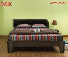 Tastefully finished in mahogany and teak stains, our new Beetle Queen size #bed is a smart solution for any #bedroom space. Buy now --->http://bit.ly/1SeGo8Q #Furniture #Homedecor