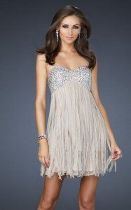 ruffled Sequin Short Cocktail Dress Nude Sale