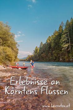 Kärntens mehr als 1.000 Fließgewässer bieten einzigartige Naturerlebnisse: Egal ob beim Radfahren, bei wilden Ritten am Wasser oder beim Kulturgenuss, hier kommt jeder auf seine Kosten. Wie wäre es zum Beispiel mit einer entspannten Radtour der Drau entlang, oder einer Rafting-, Kanu-, oder Kajaktour? #Kärnten #Fluss #Radfahren #Radtour #Rafting #Kulturgenuss #Drau Rafting, Klopeiner See, Carinthia, Austria, Mountains, Places, Nature, Travel, Villach