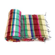 Handloomed Rag Rug Yoga Mat Handmade Saree Chindi Carpet Rectangular Durrie Y764 #JodhpurRugs #RagRug