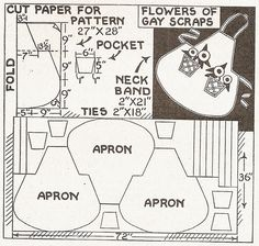 I Love This Apron Pattern Shown, and 3 Aprons? Sentimental Baby: World War II Era Apron Patterns Vintage Apron Pattern, Retro Apron, Aprons Vintage, Vintage Sewing Patterns, Apron Patterns, Dress Patterns, Sewing Hacks, Sewing Crafts, Sewing Projects