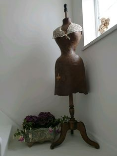 French Antique Couturiers Wasp Waist Mannequin With Stand/dress Form/dress... | eBay