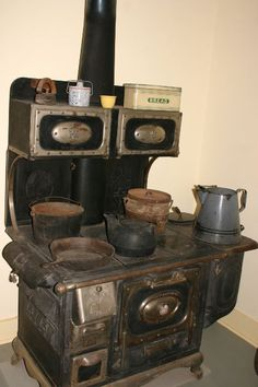 This wood fired cook stove dates from the early 1850's.
