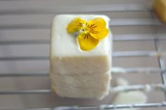 Easy Lemon Petit Fours Recipe - nice little treat for an afternoon tea...