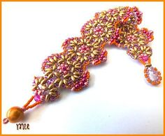 Bracelet AMORGOS in another beautiful color combination! FREE PDF TUTORIAL in English or French