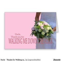 Uncle    Thanks for Walking me down Aisle Stationery Note Card