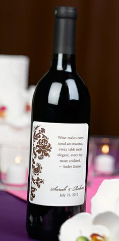 Personalized Flourish Wine Labels