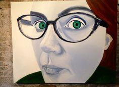 Self Portrait 'Curious' by artist Julie Caves Zoo Art, Jackson's Art, The Other Art Fair, Caves, Curiosity, Art Blog, Contemporary Art, Interview, Artists