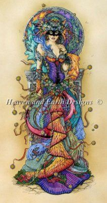 Mask of Colours I (Ravenscroft) - Heaven and Earth Designs..LOVE LOVE LOVE the colours in this one! lk