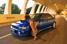 Subaru & chicks Sexy Cars, Hot Cars, Muscle Cars, Car Poses, Subaru Cars, Subaru Impreza, Wrx Sti, Japan Cars, Car Tuning