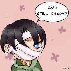 Nanami — am i still scary? Captain Levi, Eremika, Levihan, Attack On Titan Levi, Nanami, Levi Ackerman, Armin, Eminem, Character Art