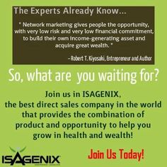 Isagenix greatness!  Come and experience my lifestyle, take the challenge. Please email for more info. experiencemylife@iinet.net.au