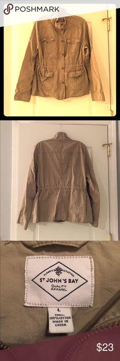 St. John's Bay Jacket Excellent condition! Tan cargo jacket made by St. John's Bay. St. John's Bay Jackets & Coats Utility Jackets
