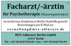 Stellenbezeichnung: Fachärztin / Facharzt für Psychotherapie für modernes Ärztehaus in Berlin-Neukölln Arbeitsort: 13357 Berlin Berlin, Deutschland Weitere Informationen unter: http://stellencompass.de/anzeige/?id=139386