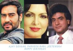 Three famous Bollywood actors, Ajay Devgan, Parveen Babi, and Jeetendra have their birthdays in the first week of April. Smriti, a movie buff, profiles them, in the new column, Bollywood Birthdays.…