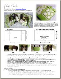 Instructions to make flip book.