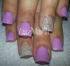 Instagram photo of acrylic nails by _luzmarie_