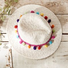 Get Inspired at Jo-Ann Fabric and Crafts Stores - Keep cool with a pom-pom trimmed hat