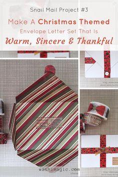 Christmas themed envelope letter set