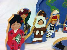 Handmade Wooden Puzzle Children Around the World by Grumpaandme
